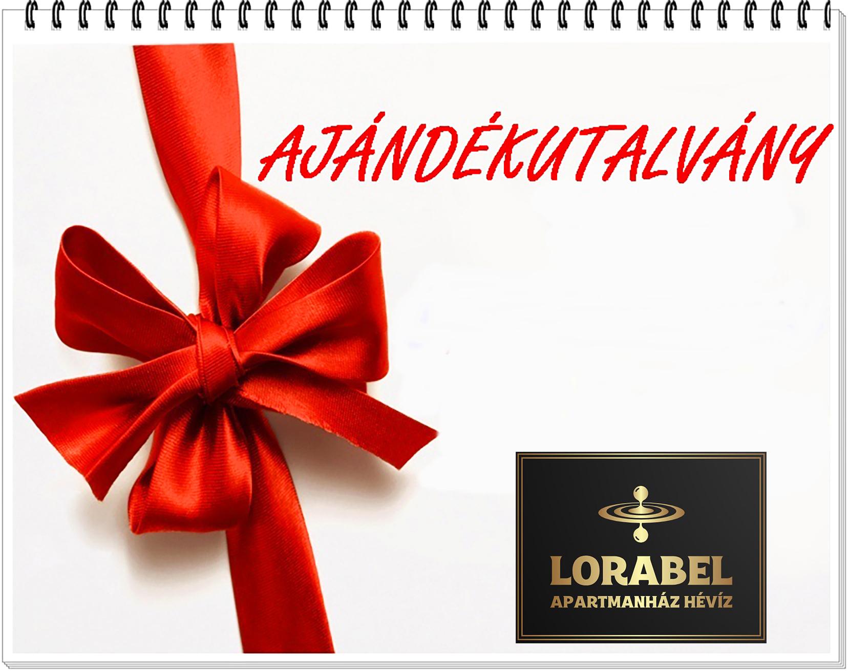 Lorabel Aparmanház Hévíz ajándékutalvány az Ön által kívánt értékben